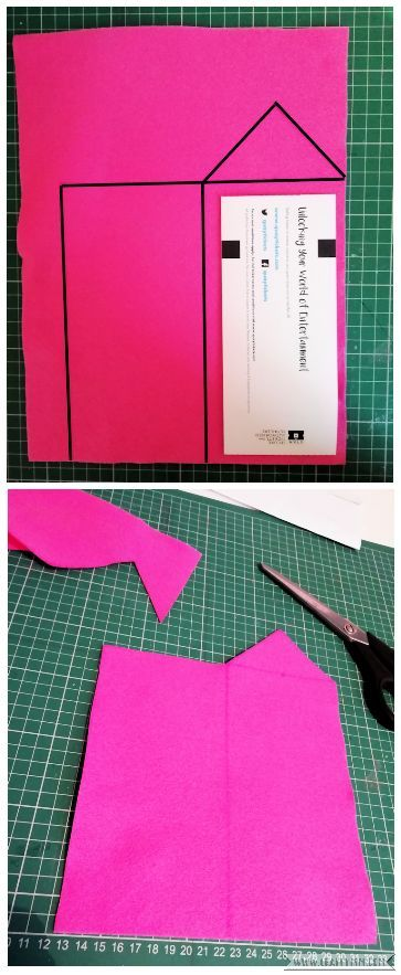Craftyism - Sewn Gift Envelope for Tickets | Step 1