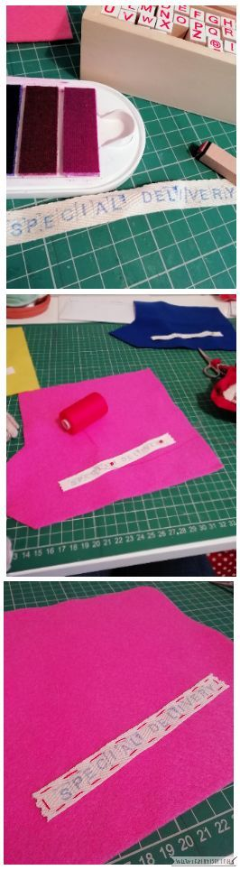 Craftyism - Sewn Gift Envelope for Tickets | Step 2