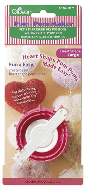 Craftyism - Valentine Gifts for Crafters | Heart Pom pom Maker Clover