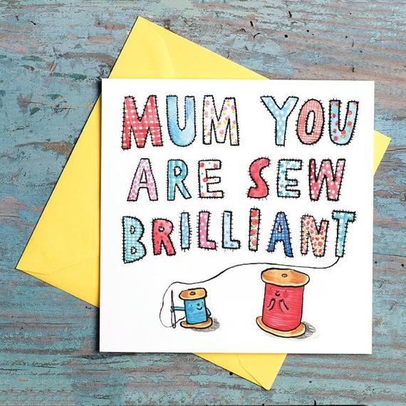 Craftyism - Crafty Mother's Day Etsy Gift Guide | Sewing card