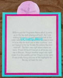 Captured Memories Scrapbook Title Page - For more info visit CraftyJBird.com