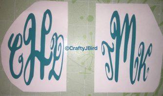 Monogram Cups -- Visit CraftyJBird.com for more info...