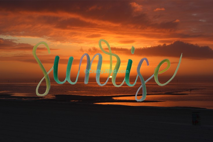 Sunsets and Sunrises -- Visit CraftyJBird.com for more info..