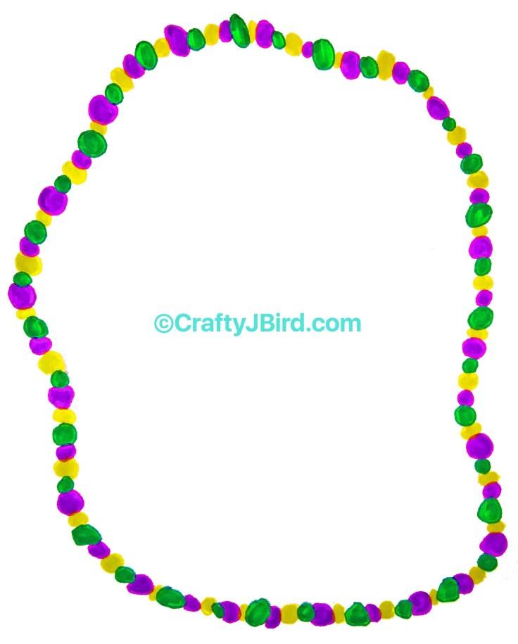 Mardi Gras Beads -- Visit CraftyJBird.com for more info...