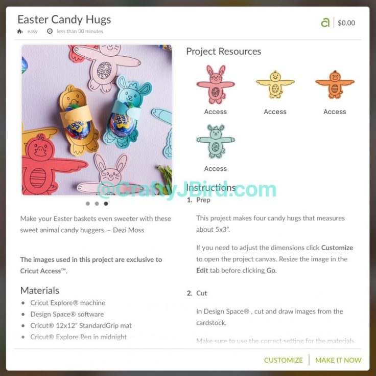 Easter Retreat -- Visit CraftyJBird.com for more info...