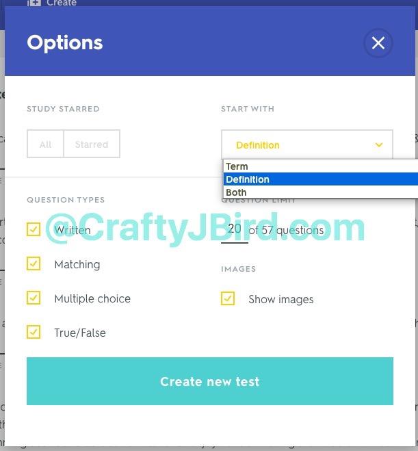 Quizlet -- Visit CraftyJBird.com for more info...