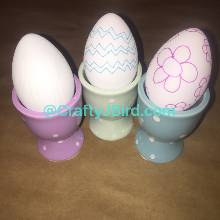 Eggs to Draw On -- Visit CraftyJBird.com for more info...