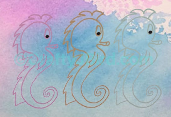 Horses of the Sea -- Visit CraftyJBird.com for more info...