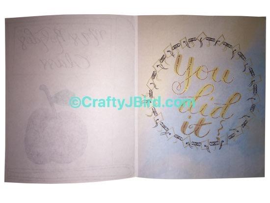 Teacher Graduation Card -- Visit CraftyJBird.com for more info...
