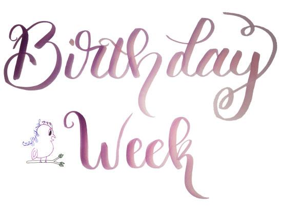 Birthday Week Crafty Jbird