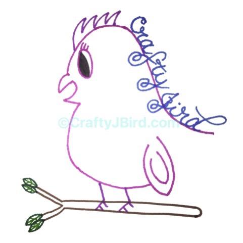 Hand-Drawn, Cricut-Made Apron -- Visit CraftyJBird.com for more info...