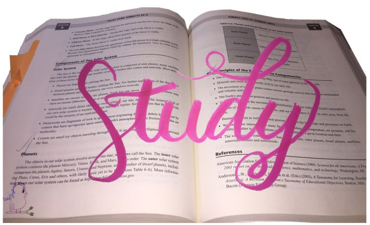 Eat, Sleep, Study, Repeat -- Visit CraftyJBird.com for more info...