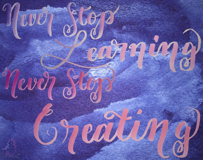 Never Stop Learning - Never Stop Creating -- Visiti CraftyJBird.com for more info...