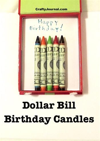Dollar Bill Birthday Candles