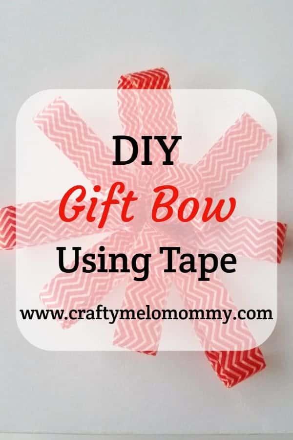 DIY tape gift bow
