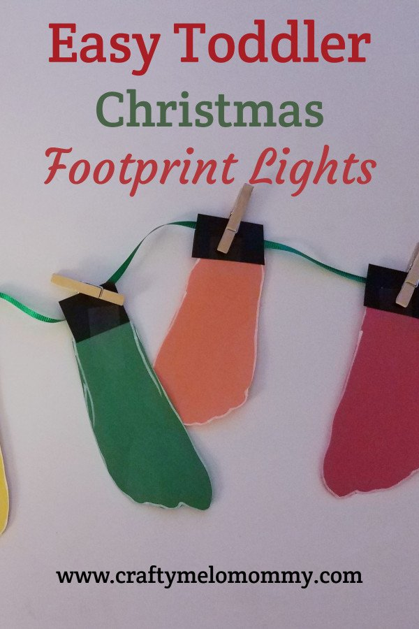 Are you looking for an easy Christmas craft for your kids to make? This is a no-mess footprint craft perfect for toddlers, preschoolers, or elementary-aged kids. Using construction, paper clothes pins, and a few other supplies, you and your child will have a great time making this DIY Christmas decoration. This homemade Christmas craft also makes a fun homemade gift idea for grandparents. Best of all, this cute craft is quick and simple! #ChristmasCraftsforKids #WinterChristmasCraftforKids