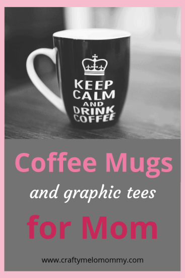 10 graphic tshirts and 11 coffee mugs. A must see for gift ideas for Mom.