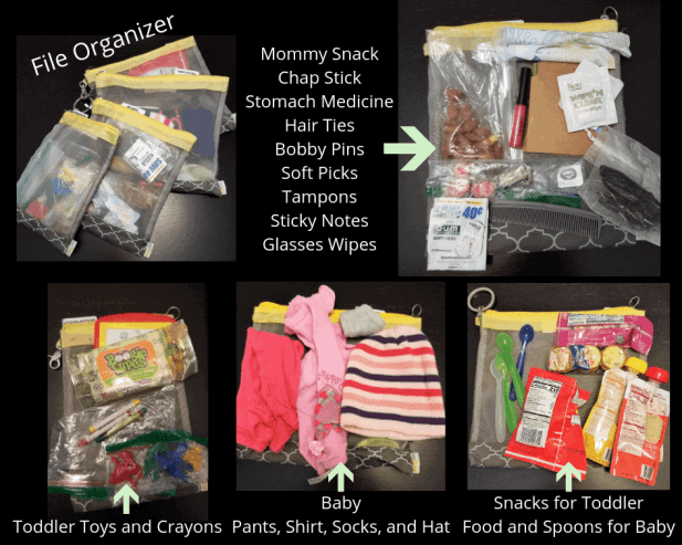 File Organizer for diaper bag
