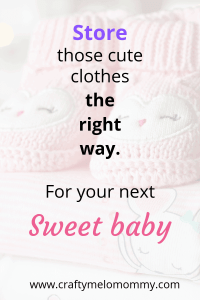 Saving and storing those sweet clothes for your next baby? Here is an easy and buget friendly way to get it done! #organizeclothes #momlife #momof 2