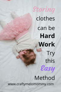 Thinking about storing clothes makes you want to take a nap? Try this easy solution. #makelifeeasy #momlife #mommyneedsanap