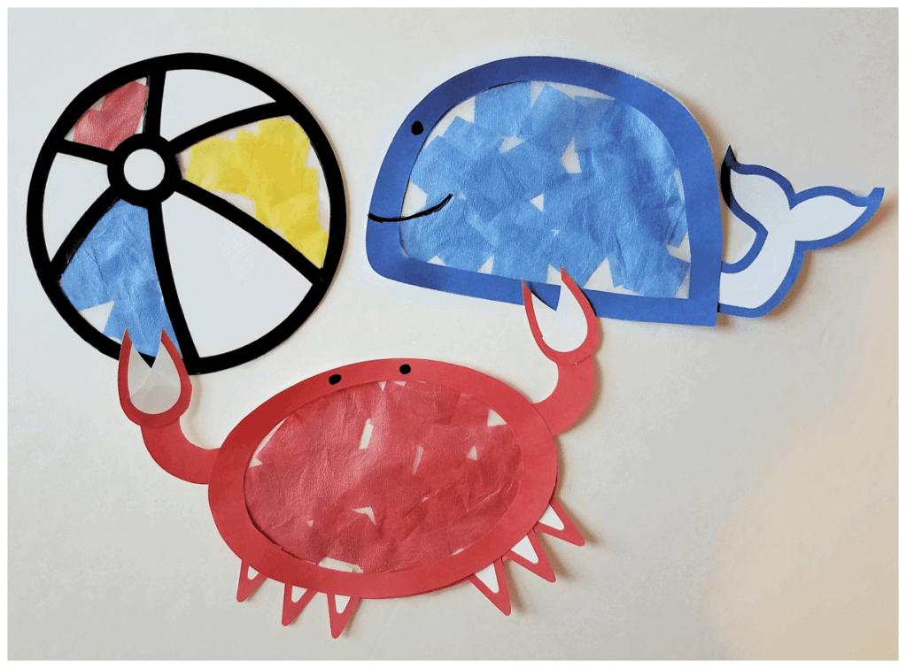 Summer art for preschoolers