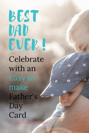 Two cute cards for your child to make this Father's Day.