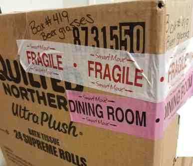 How to label boxes for moving