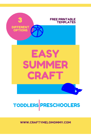 Great summer craft for toddlers and preschoolers. Easy to do with very few supplies.