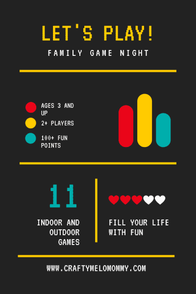 Preschool and toddler games for your family game night at home.