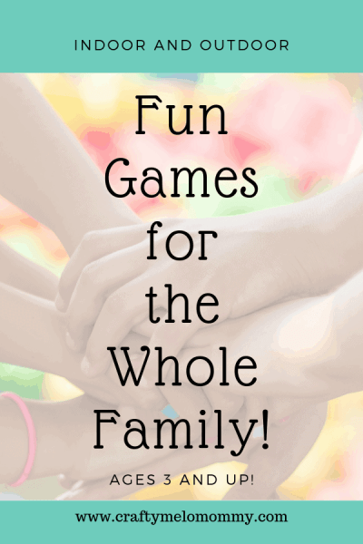 Fun indoor games in outdoor games to play with your toddler. Great for family game night.