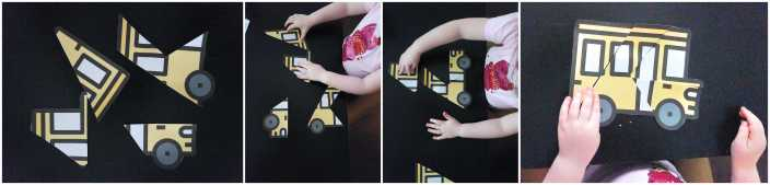 School Bus Puzzle for Toddlers