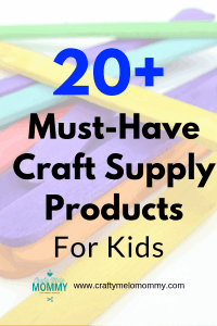 Asking what the best basic craft supplies are for your toddler or preschooler? Check out these 20-plus basic craft supplies everyone should have in their home