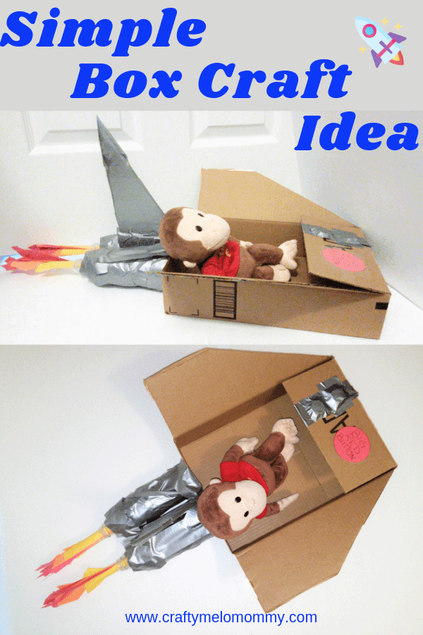 Easy box craft idea for toddlers and preschoolers to help make for their best stuffed friend.