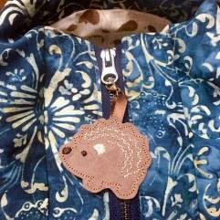 Hedgehog Zipper Pull