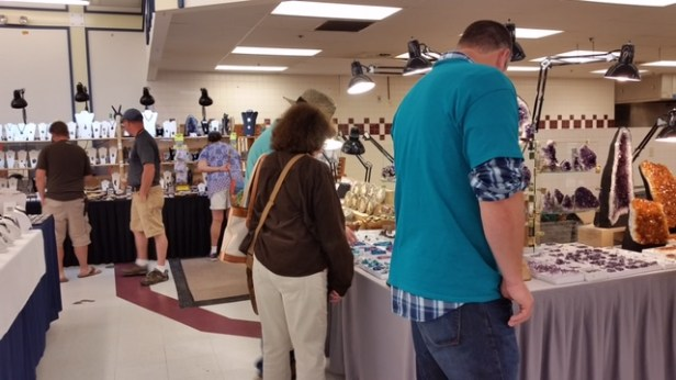 Shoppers enjoy shopping at the NC Mineral and Gem Festival