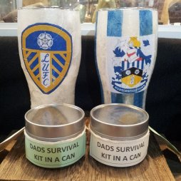 Anthea - Decoupaged Pint Glasses and Lamps