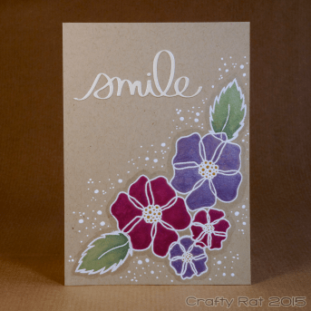 Shiny watercolour flowers