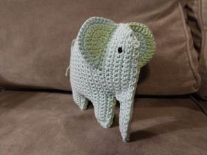 PATTERN- Elephant Applique-Crochet Pattern, pdf | Elephant ... | 225x300