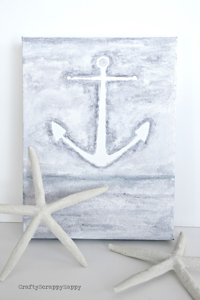 DIY Water Color Anchor Canvas Start A Craft Business