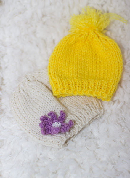 Knit Baby hat for beginners – Free Pattern