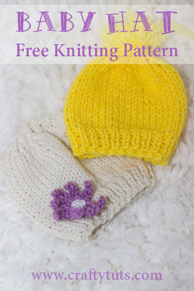 Knit Baby Hat For Beginners Free Pattern Crafty Tutorials