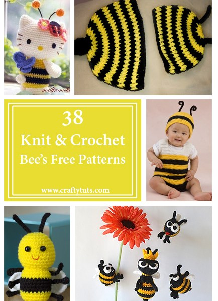 Knit and crochet free patterns – Bees