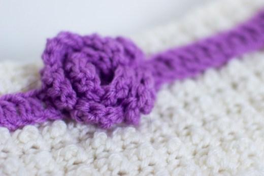 Headband With Rosette - Crochet Free Pattern 4