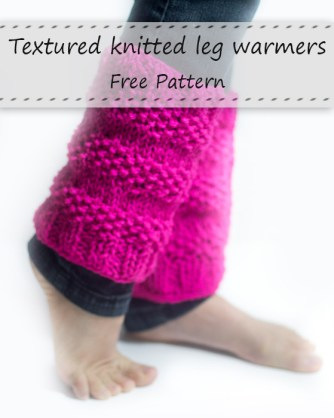 Textured Leg Warmers. Free knitting pattern. Cozy leg warmers, can be worn as boots cuffs, quick and easy knitting project.