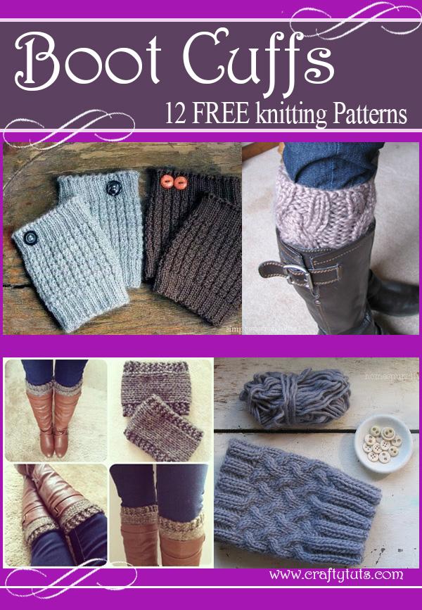 Boot Cuffs Free Knitting Patterns Crafty Tutorials