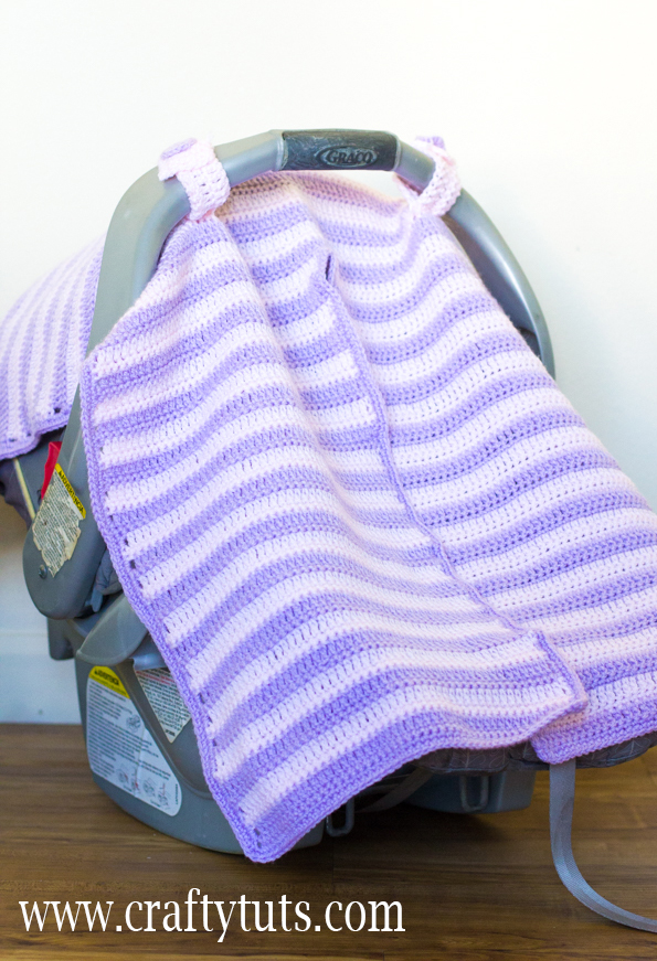 Crochet Car Seat Cover - Free Pattern 1