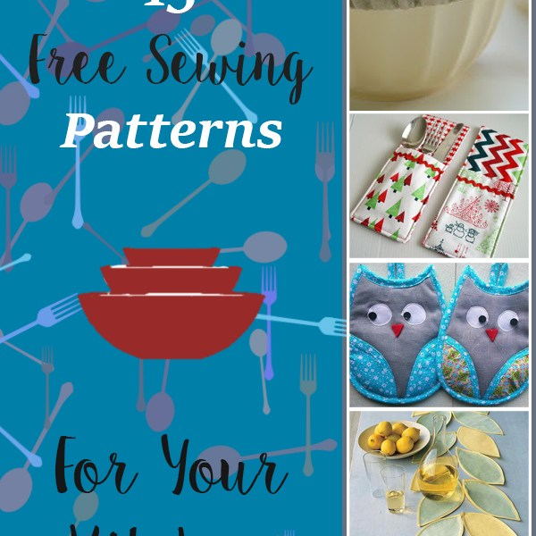 15 Free Sewing Patterns & Projects For Your Kitchen
