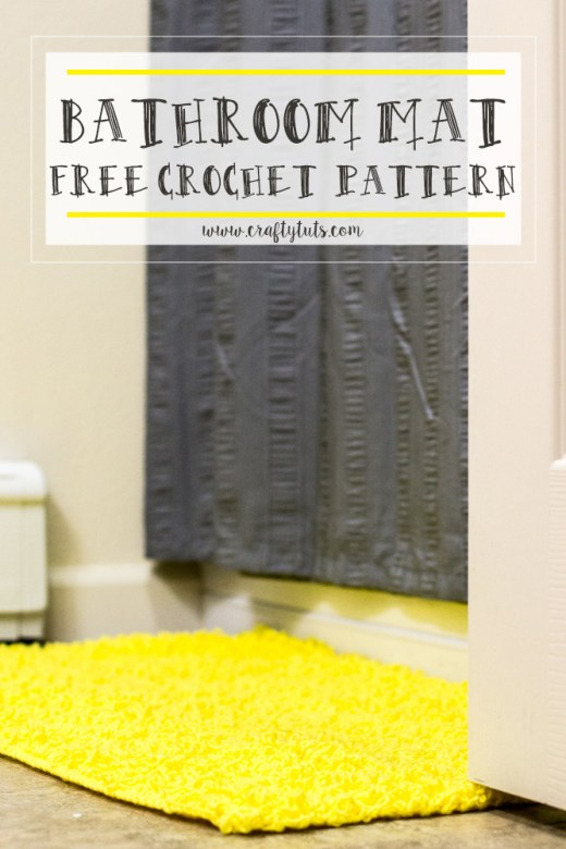 Bathroom Mat Free Crochet Pattern 3