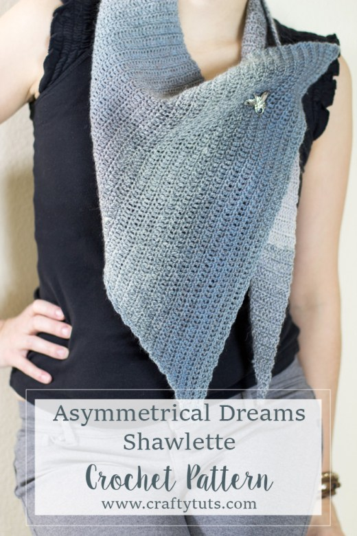 Asymmetrical dreams shawl crochet pattern