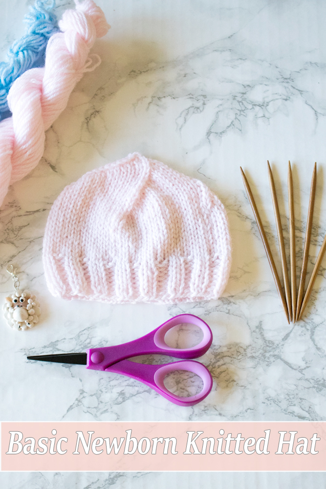 Free Basic Newborn Knitted Hat Pattern 0 To 3 Months Old Crafty